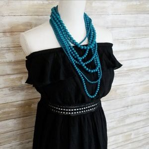 Black Strapless Maxi Dress Size 15/17